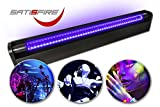 SATISFIRE Schwarzlicht LED-UV-Rhre 60cm Komplettset | 10W High Power | ca. 30.000 Stunden...