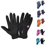 Winterhandschuhe warmes Futter – Full Finger Touchscreen Anti-Rutsch Winddicht Unisex Winter Warm...