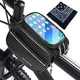 Wasserfeste Handyhalterung fürs Fahrrad - Fahrrad Rahmentasche Wasserdicht Stabile Touch Screen...