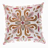 Easr Handtuch bestickte Farbe einfarbig Dreieck Muster einfaches Kissen 45x45cm Schlafzimmer...