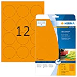 HERMA 5153 Farbige Etiketten DIN A4 (Ø 60 mm, 20 Blatt, Papier, matt, rund) selbstklebend,...