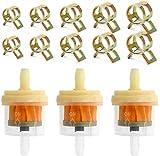 Benzin-Filter, 12 Stück Universal-Gas Inline-Kraftstofffilter mit Magneten und 25 Stück...