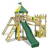 WICKEY Spielturm Ritterburg Smart Legend 150 mit Schaukel & grüner Rutsche, Spielhaus mit...