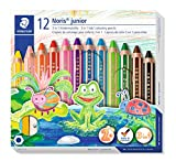 STAEDTLER 140 C12 3in1 Buntstift Noris junior (Bunt-, Wachsmal- und Aquarellstift, extra...