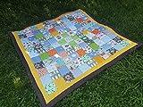 Patchworkdecke DouDou jede Decke ein Unikat - ca. 120 x 120 cm oder größer/kleiner - echte...