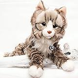 Maine Coon SHELZY Katze Norwegische Waldkatze grau gestreift 55 cm Plüschtier Schlenkertier...