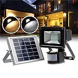 Cotangle Außenlandschaftsflutlicht für Hinterhof 9 LED-Sonnenenergie-PIR Bewegungs-Sensor Floo...