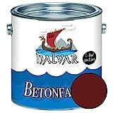 Halvar Betonfarbe/Bodenbeschichtung SEIDENMATT Braun RAL 8000-8028 Fassadenfarbe (1 L, RAL 8012...