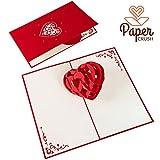 PaperCrush Pop-Up Karte 3D Herz - Romantische Geburtstagskarte fr Sie und Ihn, Besondere Liebeskarte...