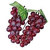 (Rote) Deko Kunststoff Weintrauben Wein Trauben Kunstobst Plastikobst künstliches Obst Gemüse...