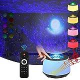 Sternenhimmel projektor mit Nachtlicht sternenhimmel Mond- und Nebeleffekt/Bluetooth Sprachsteuerung...
