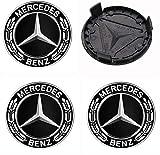 Generic 4 Stück 75mm Ersatzteil Nabendeckel Radnabenkappen Felgendeckel für Mercedes Benz...