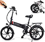 Elektrofahrrad Ebike Klapprad Mountainbike 20 Zoll mit 48V 10,4Ah Lithium-Akku, 350 W Motor 25 km/h,...