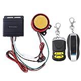 WINOMO Motorrad Alarm System Anti Diebstahl Sicherheitssystem mit doppelter Fernbedienung 12v...