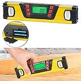 AGT Winkelmesser: Digitale Wasserwaage mit Winkel-Messfunktion und LCD-Display, 25 cm (Messgerät)