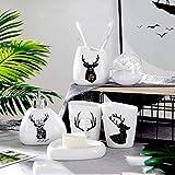Weihnachten Home Decoration Keramik Badezimmer Sechs-Teiliges Kit Nordic Deer Pattern Porzellan...