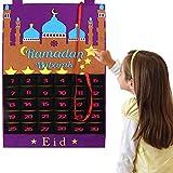 HUSHUI Adventskalender Countdown Ramadan, Eid Mubarak Countdown Kalender, Filz Eid Mubarak...