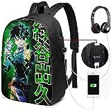 Gsixgoods Rucksack Midoriya My Hero Acad-emia 17in Casual Schoolbag Lightweight Daypack Bookbag...