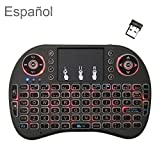 Support Sprache: Spanisch i8 Air Mouse Wireless-Hintergrundbeleuchtung Tastatur mit Touchpad for...