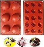 Cevikno Silikonform für Schokolade, 2 Packungen Backform zur Kuchen, Gelee, Pudding, handgefertigte...
