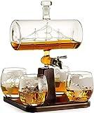 WISHTREE 5Pcs Set Kreative Antike Boot Form Karaffe Wein Whiskey Glas Karaffe 1 Halterung 1 Decanter...