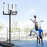 MaxKare Basketballkörbe Basketballständer 305 cm Einstellbar füllen Wasser Sand Basketballanlage...
