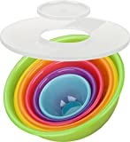 Kigima Schsselset Rainbow 8-teilig Salatschssel, Rhrschsseln (5X Schsseln 0,5l/0,75l/1,6l/3,6l/6,0l,...