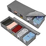 Migimi Unterbettkommode, Aufbewahrungstasche 2 Stück Aufbewahrungstasche Faltbare,...
