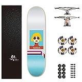 FUFU Kickscooter Skateboard Erwachsenes Allrad-Skateboard Double Snubby Maple Skateboard Tragend...