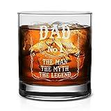 NeeNoNex Whiskyglas mit Aufschrift'Dad The Man' 11 oz. Whiskeyglas