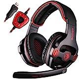 SADES SA903 7.1 Surround Sound Stereo Professionelle PC USB Gaming Headset Stirnband Kopfhörer mit...