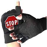 Zaleraith Bike Half Finger Gloves Stoppschild Männer Frauen Anti-Slip Stoßfest Gym Boxing...