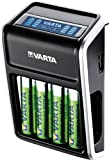 VARTA LCD Plug Ladegerät (für AA/AAA/9V und USB-Geräte, Design kann abweichen) schwarz