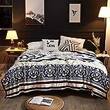 WENZHEN Sofa-Decke,Fluffy Flannel Blanket Throw für Schlafsofa Winter Travel,100% Polyester...
