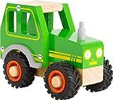 small foot 11078 Einsatzfahrzeug Traktor aus Holz, mit Fahrerhaus und gummierten Rädern, ab 18...