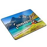 PhotoFancy® - Mousepad mit eigenem Foto bedrucken - Mauspad selbst gestalten (24 x 19 cm)