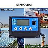 SHIJING 10A / 20A / 30A / 40A / 50A / 60A 12V 24V Dual USB Auto Solar-Laderegler-PWM-Controller LCD...