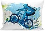 CDMT-XU1 Wurfkissenbezüge BMX von Sportler Radfahren Extreme Bike Freestyle Triathlon Fahrrad...