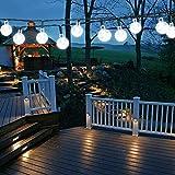 Solar lichterkette aussen, 50 LED 7M/24Ft lichterkette solar lampions außen wetterfest 8 Modi...