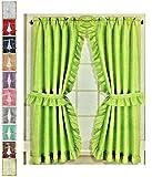Better Home Vorhang-Set, gerafft, Mosaik, 2 Raffhalter – Klebehaken 54' L by 72' W Mint
