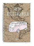MEIN REISETAGEBUCH  Reisebuch DIN A5 Ringbuch zum selberschreiben mit Van BUS fr eine Hochzeitsreise...