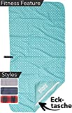 BEARFOOT Mikrofaser Handtuch Set mit Tasche | schnelltrocknende Handtücher - Microfaser...
