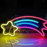 Leuchtreklamen, LED Leuchtschilder Dekorative Neonlichter für Schlafzimmer, Sternschnuppe...