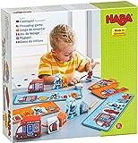 HABA 304652 - Fädelspiel Feuerwehr, Lernspiel und Motorikspielzeug ab 18 Monaten, Holzfiguren zum...