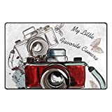 LUPINZ Vintage-Kamera-Teppich, Fumatte, Fumatte, Heimdekor, 78,7 x 50,8 cm/152,4 x 99,1 cm,...