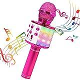 BlueFire Karaoke Mikrofon, Bluetooth Mikrofon Kinder, Drahtlose Tragbares Microphon LED Lichter mit...