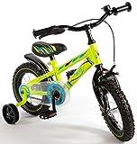 Volare 12 Zoll Fahrrad mit Rücktritt und Stützräder Kinderfahrrad Jungen Grün