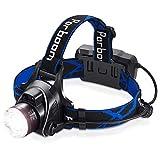 Parboom Stirnlampe, LED Kopflampe USB Wiederaufladbare Headlight, IPX5 Wasserdichter Kopfleuchte mit...