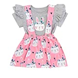 Ostern Baby Mädchen Prinzessin Kleid Kaninchen Outfits Cartoon Bunny Drucken Kurzarmshirts T Shirt...
