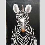 Moderne Abstrakte Zebra Ölgemälde Leinwand Kunst Geschenk Dekoration Wohnzimmer Wandkunst...
